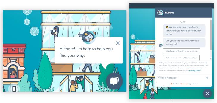 HubSpot CRM Chatbot Builder