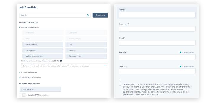 HubSpot CRM Form